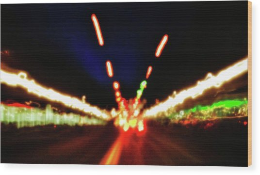 Bright Lights Wood Print