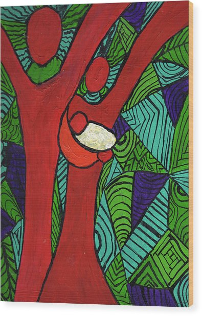 Bright New Day Wood Print