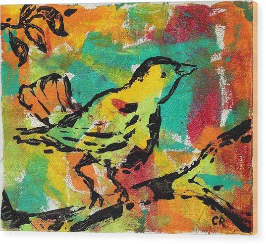 Bright Song Wood Print