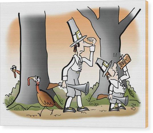 Bright Thanksgiving Wood Print