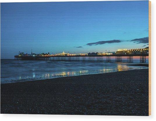 Brighton Pier At Sunset Ix Wood Print