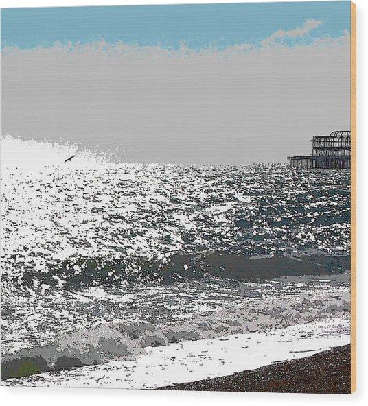 Brighton West Peer Wood Print