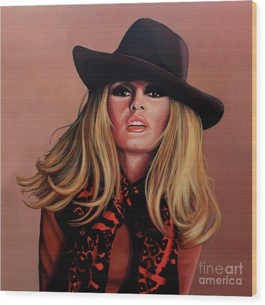 Brigitte Bardot Painting 1 Wood Print