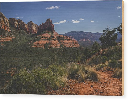 Brins Mesa Trail Vista Wood Print