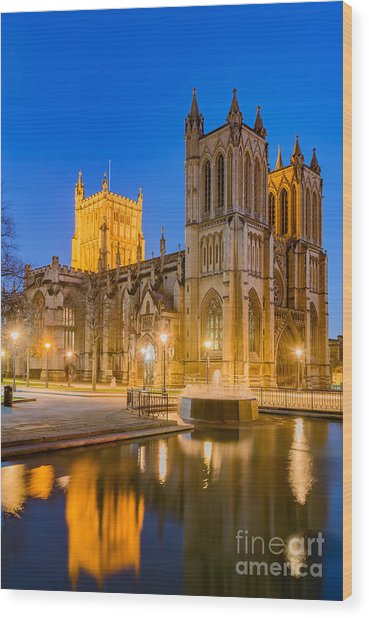Bristol Cathedral Wood Print