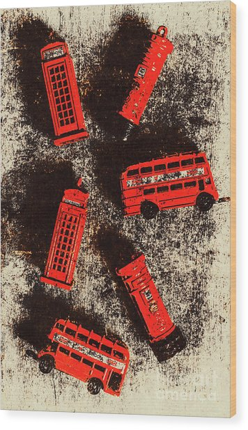 British Memories Wood Print