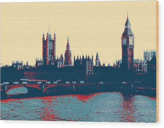 British Parliament Wood Print