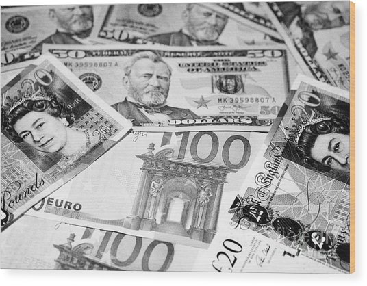 British Pounds Us Dollars And Euros Cash Notes by Joe Fox