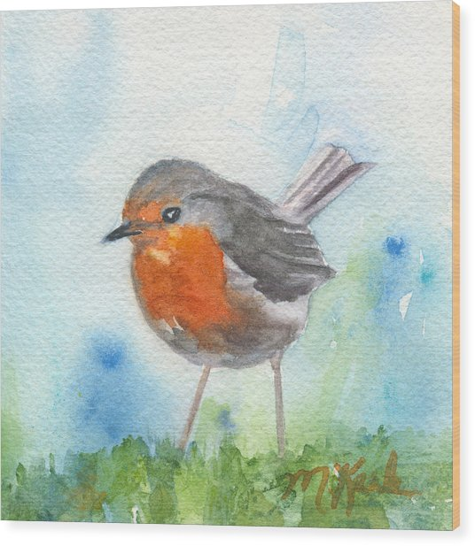 British Robin Wood Print