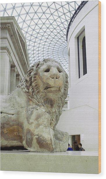 Britmuseumlion 0064 Wood Print by Charles  Ridgway