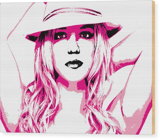 Britney Spears Wood Print