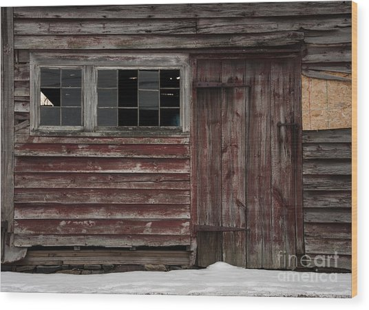 Broad Side Of A Barn Wood Print