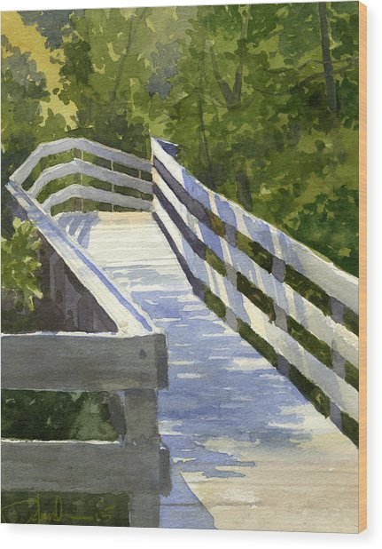 Boardwalk Wood Print