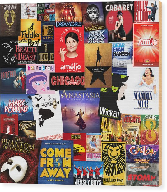 Broadway 15 Wood Print