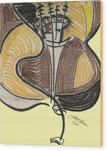 Broken Bass Dyptic 2 Wood Print by Diallo House