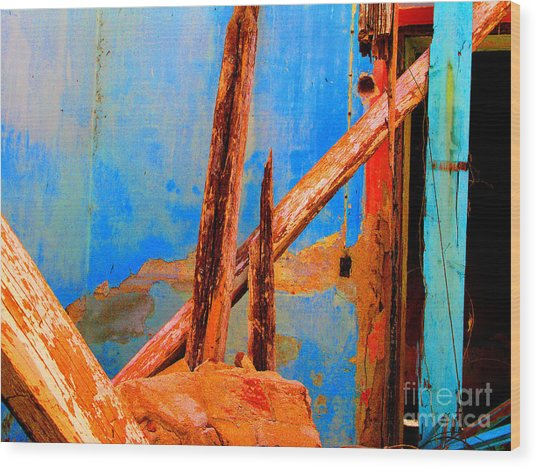 Broken Beams By Michael Fitzpatrick Wood Print by Mexicolors Art Photography