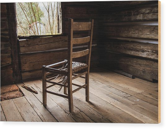 Broken Chair Wood Print