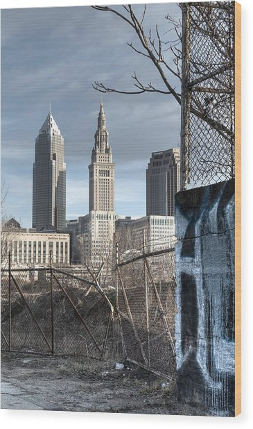 Broken Fences - Portrait Wood Print