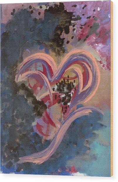 Broken Hearted Wood Print by Helene Henderson