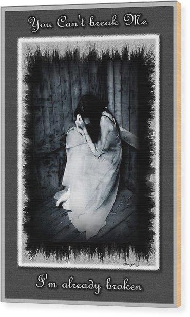 Broken Wood Print by Lisa Daughtry