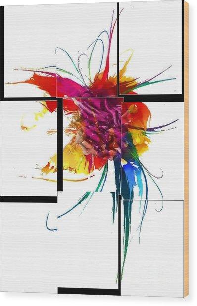 Broken Pattern By Nico Bielow Wood Print
