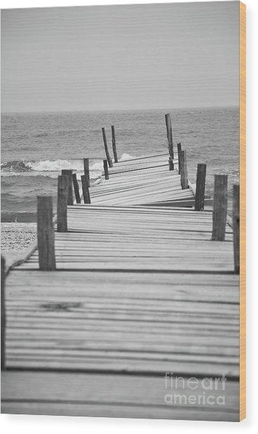 Broken Pier Wood Print by Gabriela Insuratelu