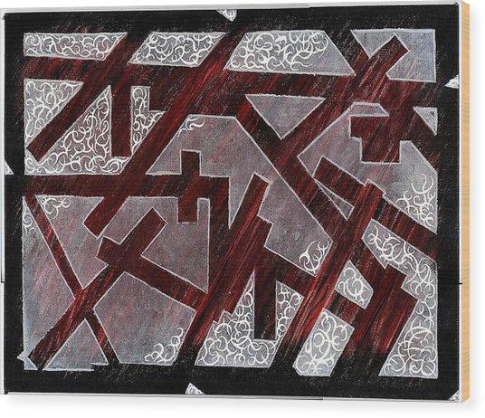 Broken Skin Wood Print by Nathaniel Hoffman