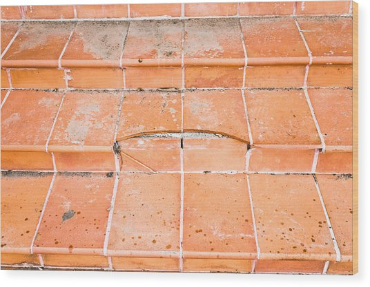 Broken Steps Wood Print