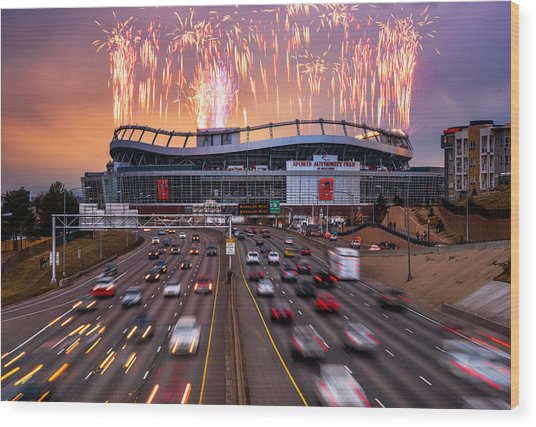 Broncos Win Afc Championship Game 2016 Wood Print