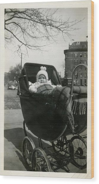 Bronx Baby Circa 1940 Wood Print