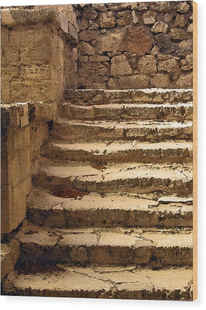 Bronze Age Stairs Wood Print