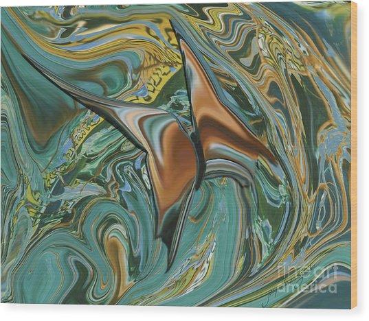 Bronze Butterfly Wood Print