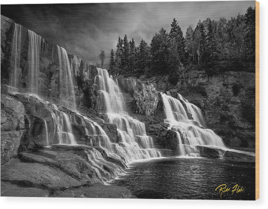 Brooding Gooseberry Falls Wood Print