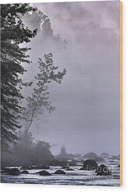 Brooding River Wood Print