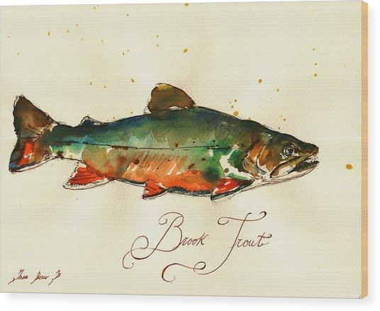 Brook Trout Art Wood Print