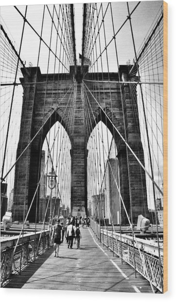 Brooklyn Bridge 2 Wood Print by Andrew Dinh