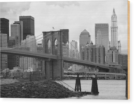 Brooklyn Bridge I Wood Print