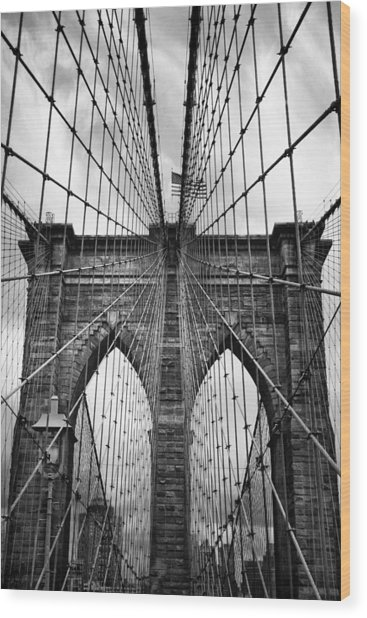 Brooklyn Bridge Mood Wood Print