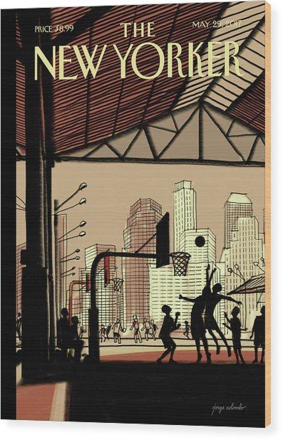 Brooklyn Bridge Park Wood Print