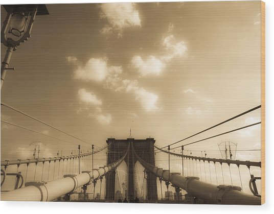 Brooklyn Bridge Wood Print by Patrick  Flynn