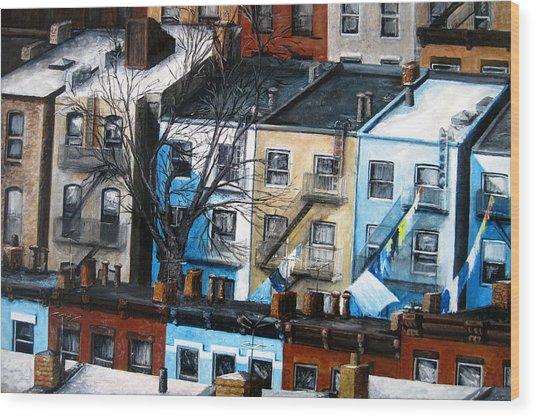 Brooklyn Rooftops Wood Print