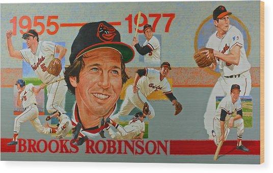 Brooks Robinson Wood Print
