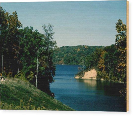 Brookville Lake Brookville Indiana Wood Print