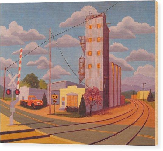 Broomfield Grain Elevator Wood Print