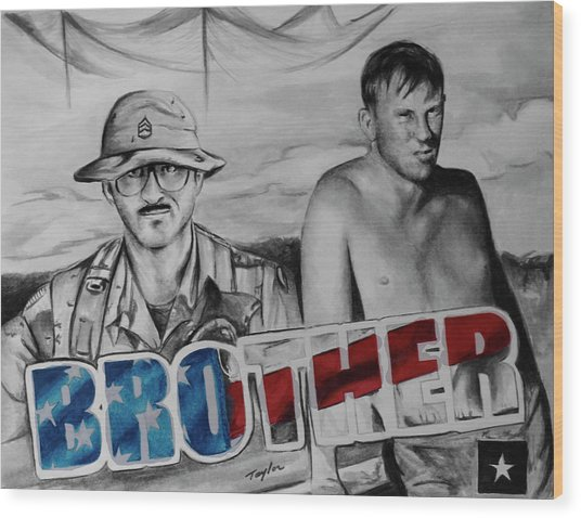 Brother Wood Print by Laura Taylor