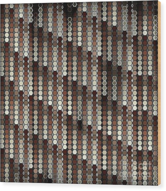 Brown Dot Wood Print