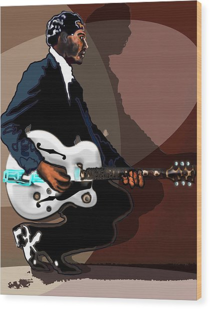 Brown Eyed Handsome Man-chuck Berry Wood Print