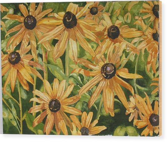 Brown Eyes Wood Print by Helen Shideler