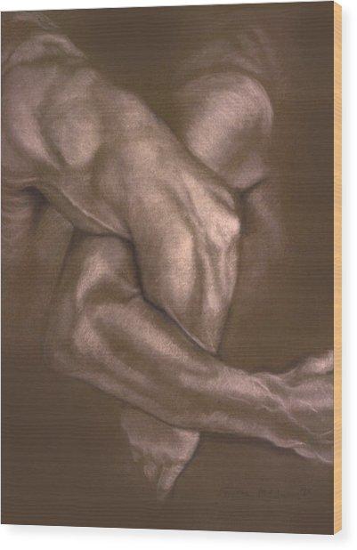 Brown Series Vi Wood Print by John Clum