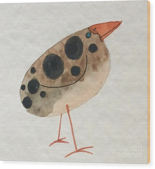 Brown Spotted Bird Wood Print